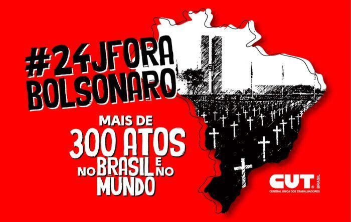 #24J: Já tem 300 atos 'Fora, Bolsonaro' confirmados. Confira a lista