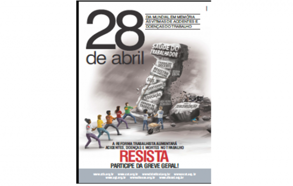 28/04:Dia Mundial em Memória das Vítimas de Acidentes de Trabalho