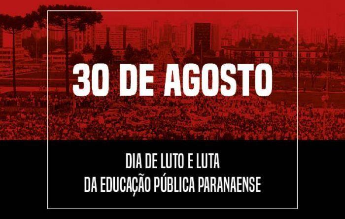 30 de agosto é dia de luto e luta para a educação