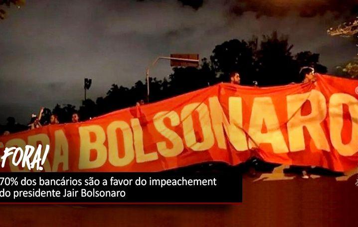 70% dos bancários são a favor do impeachment do presidente Jair Bolsonaro