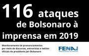 Ano se encerra com 116 ataques de Bolsonaro à imprensa