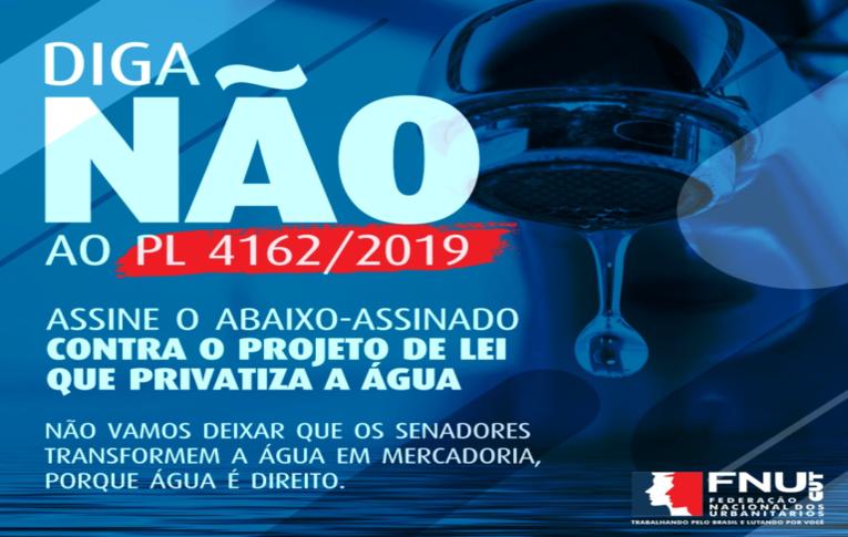Assine já o abaixo-assinado contra o PL que privatiza a água