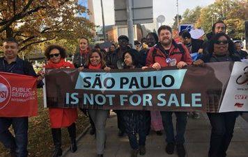 Ato contra privatizações de Doria ganha as ruas de Genebra