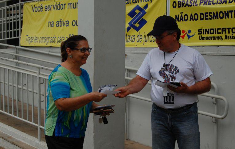 Bancários do Banco do Brasil fizeram Dia de Luta contra os Descomissionamentos