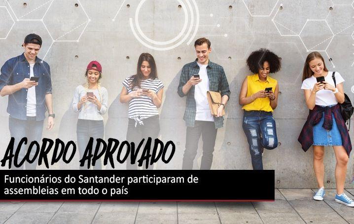 Bancários do Santander aprovaram acordos com o banco