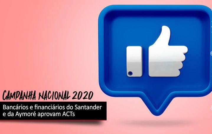 Bancários e financiários do Santander e da Aymoré aprovam ACTs