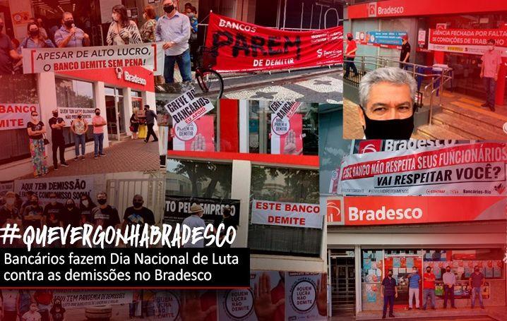 Bancários se mobilizam contra demissões no Bradesco