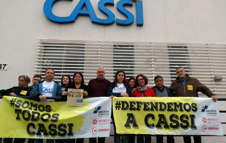 BB: Bancários protestam em defesa da Cassi