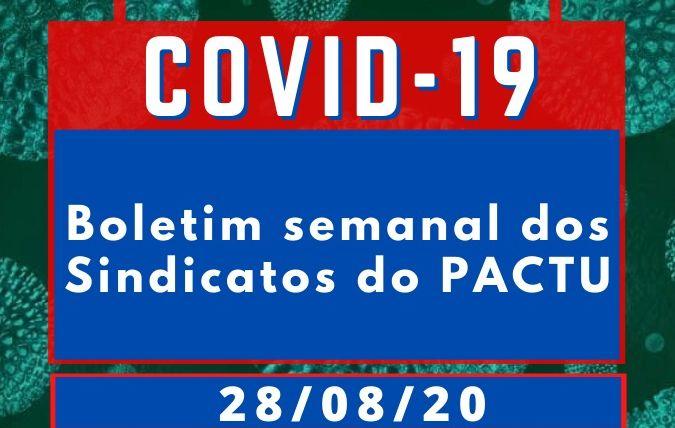 Boletim Semanal sobre o coronavírus nos sindicatos do Pactu