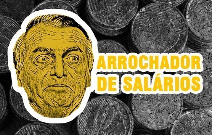 Bolsonaro aposta na miséria e reduz valor do salário mínimo pela segunda vez