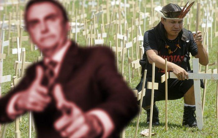 """Bolsonaro é denunciado em Corte Internacional por """"incitar genocídio indígena"""""""