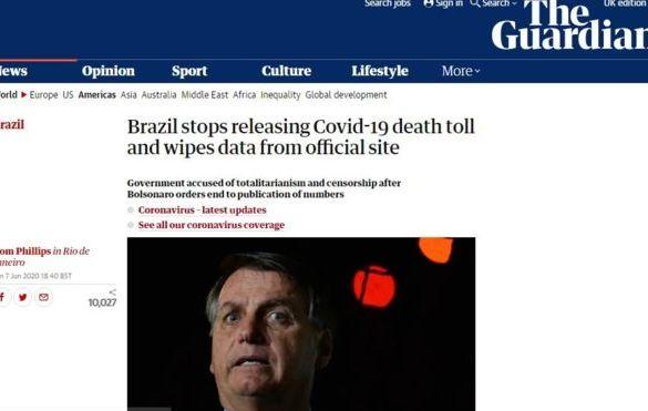 Brasil é destaque no mundo por não divulgar dados de mortes por covid-19
