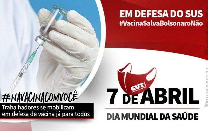 "Brasil pede ""fora, Bolsonaro"" e vacina para todos no Dia Mundial da Saúde"
