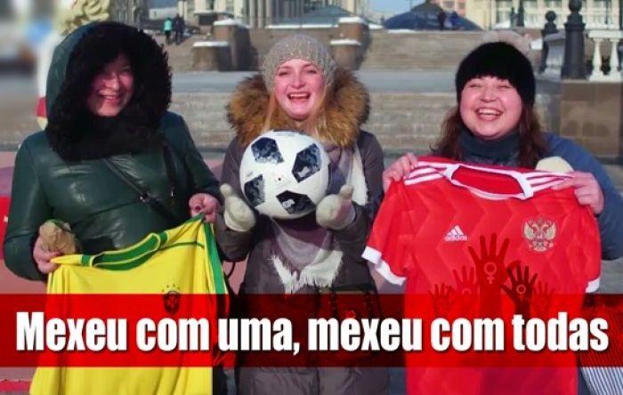 Brasileiros machistas na Copa da Rússia são reconhecidos e penalizados