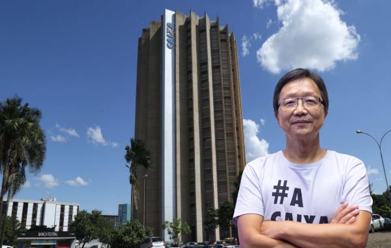 """""""Caixa pública e de caráter social simboliza o que queremos defender no Brasil"""", afirma Sergio Takemoto"""