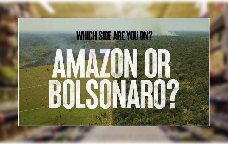 Campanha para salvar Amazônia questiona apoio de empresas a Bolsonaro: 'De que lado você está?'