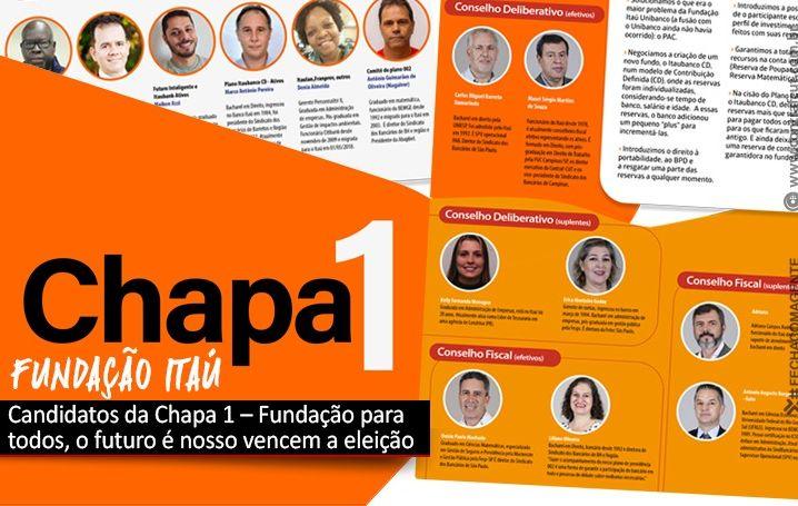 Candidatos da Chapa 1 – Fundação para todos, o futuro é nosso vencem a eleição da Fundação Itaú