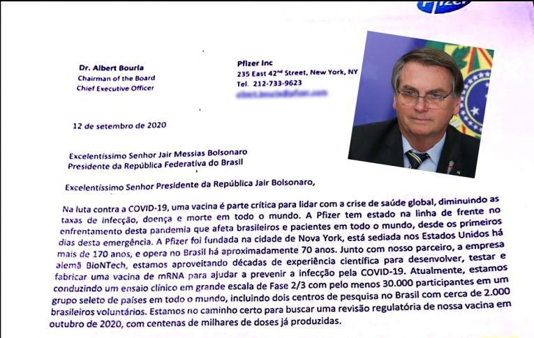 Carta da Pfizer confirma descaso de Bolsonaro com vacinação. CPI ouve empresa nesta quinta