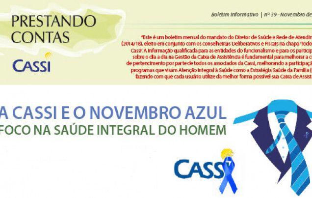 Cassi: Prestando Contas 39 enfoca saúde dos homens