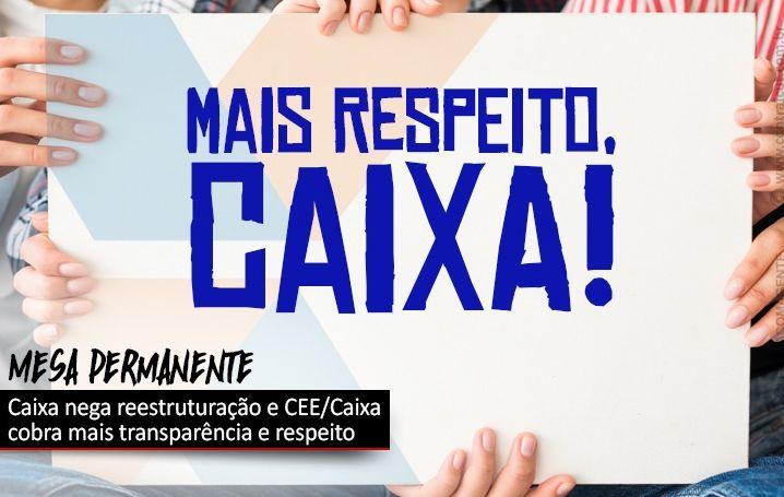 CEE/Caixa cobra posicionamento transparente da Caixa e mais respeito com os empregados