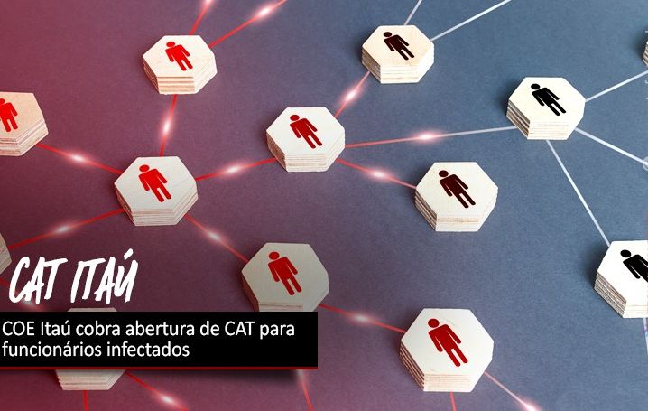 COE Itaú cobra abertura de CAT para funcionários infectados