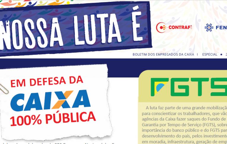 """Contraf-CUT disponibiliza 2º edição do """"Nossa Luta É"""""""