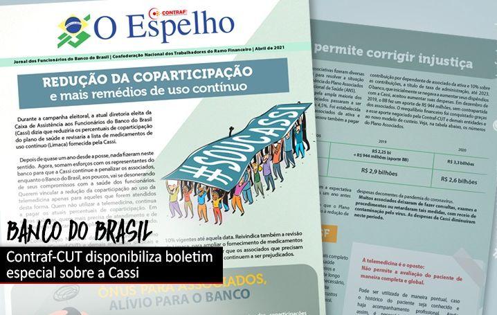 Contraf-CUT disponibiliza boletim especial sobre a Cassi