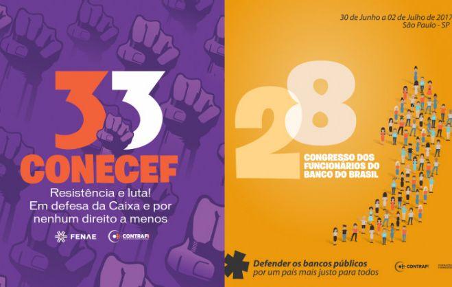 Contraf-CUT disponibiliza cadernos de teses dos congressos do BB e da Caixa para download