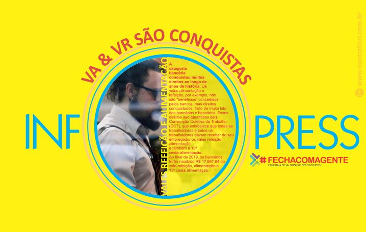 Contraf-CUT disponibiliza InfoPress sobre vales-alimentação e refeição