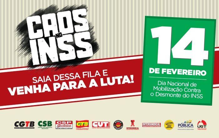 CUT e centrais farão protestos nesta sexta (14), para denunciar a destruição do INSS
