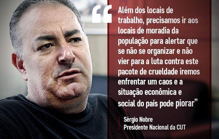 CUT e centrais vão denunciar pacote de maldade de Bolsonaro/Guedes dia 13 em SP