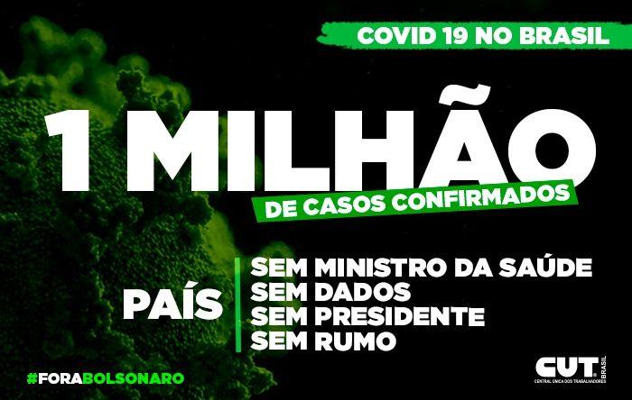 Brasil tem mais de um milhão de pessoas contaminadas por Covid-19