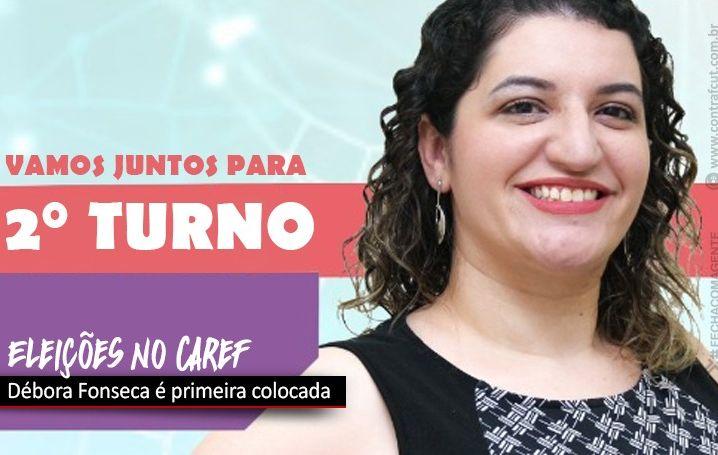 Débora Fonseca é primeira colocada na eleição do Caref