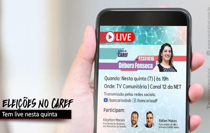 Débora Fonseca faz live nesta quinta-feira (7)