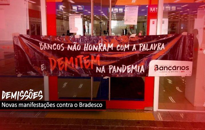 Demissões no Bradesco provocam novas manifestações em todo o país