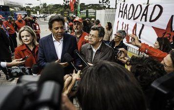 Desenvolvimento com inclusão dá rumo certo à campanha, diz Lula a Haddad