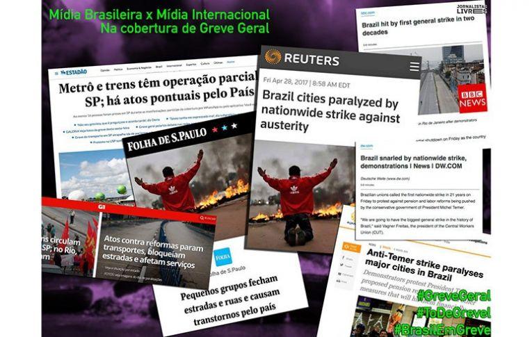 Deu no mundo inteiro: uma greve gigantesca varreu o Brasil
