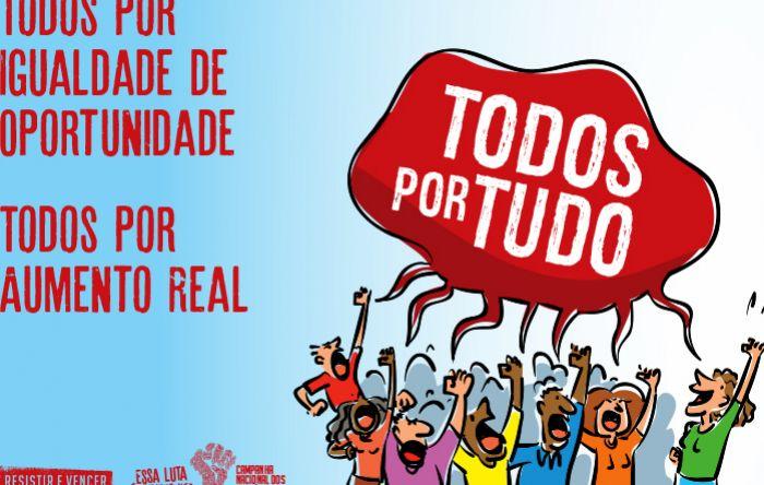 Dia 1º é dia de proposta com aumento real, PLR maior, mais empregos e manutenção dos direitos