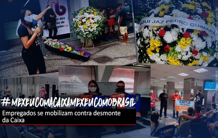 Dia Nacional de Luta contra desmonte da Caixa tem ato nas agências e manifestação online