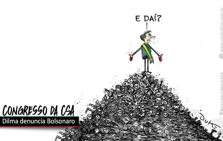 Dilma Rousseff fala no congresso da CSA