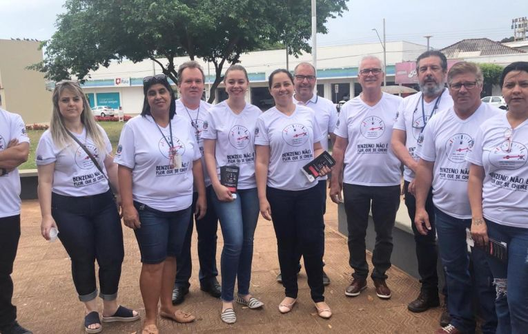 Dirigente do Sindicato de Umuarama participa de campanha sobre os riscos do benzeno