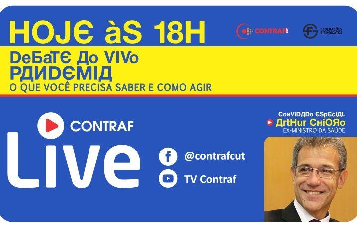 É hoje! Contraf-CUT debate a pandemia do coronavírus no Brasil