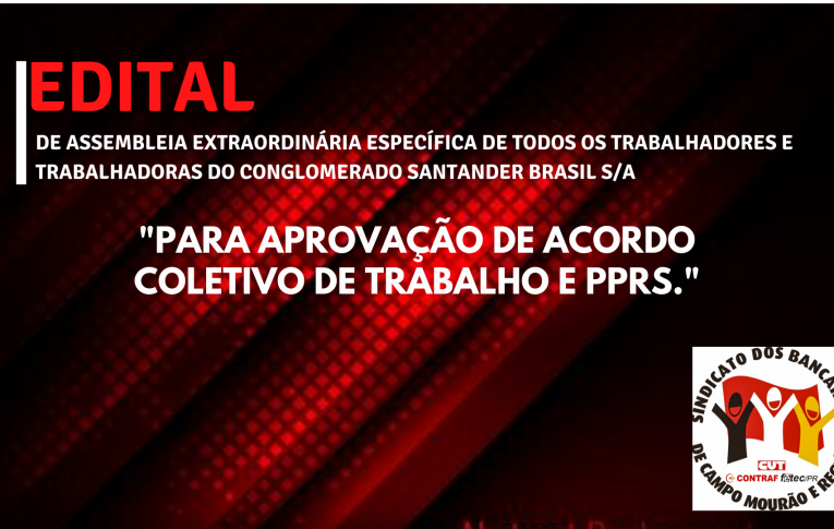 Edital de Assembleia Extraordinária Específica dos Funcionários do Banco Santander Brasil S/A