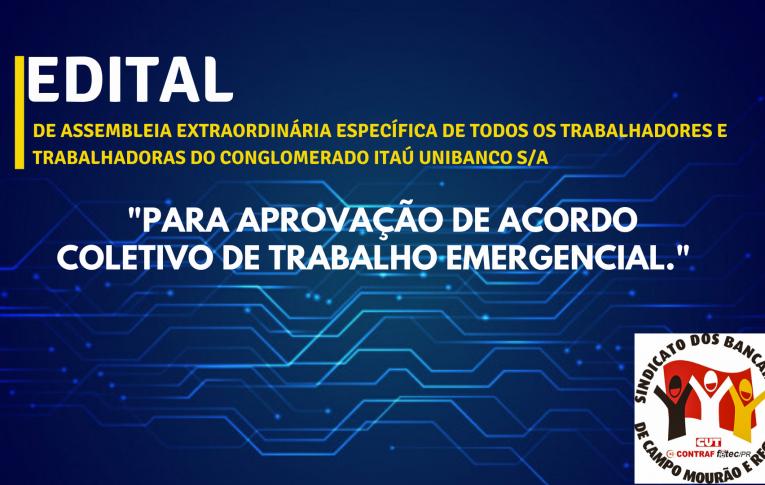 Edital de Assembleia Extraordinária Específica dos Funcionários do Conglomerado do Banco Itaú Unibanco S/A
