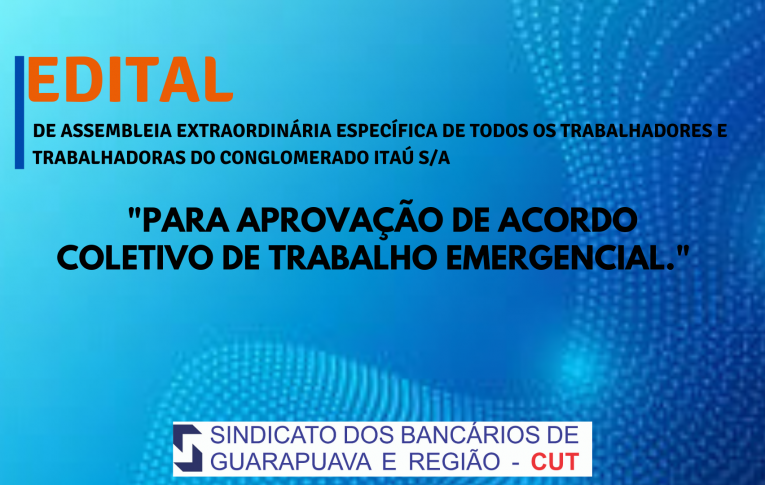 Edital de Assembleia Extraordinária Específica Itaú Guarapuava