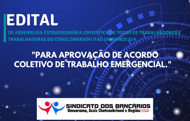 Edital de Assembleia Extraordinária Específica Itaú Umuarama