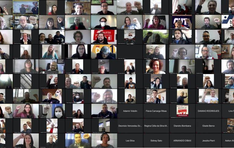 Eleição e posse de nova direção da FETEC-CUT/PR são efetivadas durante Congresso virtual