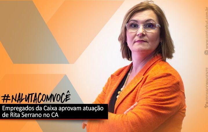 Empregados aprovam atuação de Rita Serrano no CA da Caixa