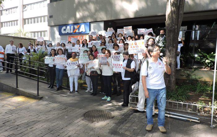 Empregados se unem em defesa do Saúde Caixa