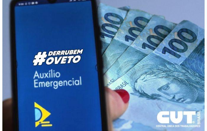 Entidades lançam campanha pela derrubada do veto à ampliação do auxílio de R$ 600